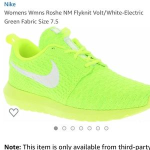 Nike neon yellow roshe NM Nike knit VOLT!!